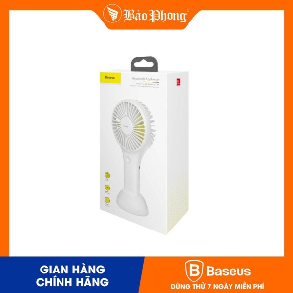 Quạt mini Baseus Bingo hand and desktop fan White-CXBG-02/04