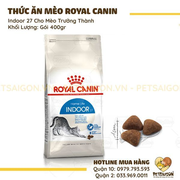 ROYAL CANIN - INDOOR 27 CHO MÈO TRƯỞNG THÀNH