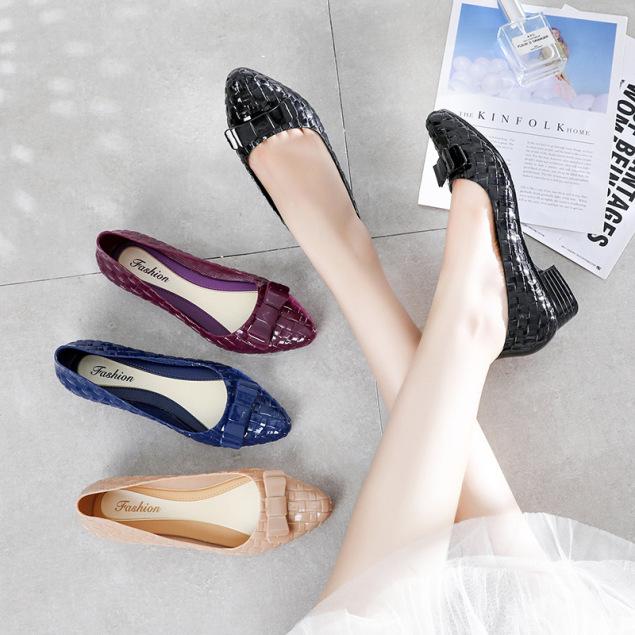 Giày búp bê công sở tôn dáng siêu xinh, có khả năng chịu nước, chống trơn trượt V259 giá rẻ