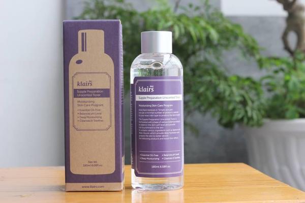 Nước hoa hồng Klairs Supple Preparation Facial Toner (có mùi)