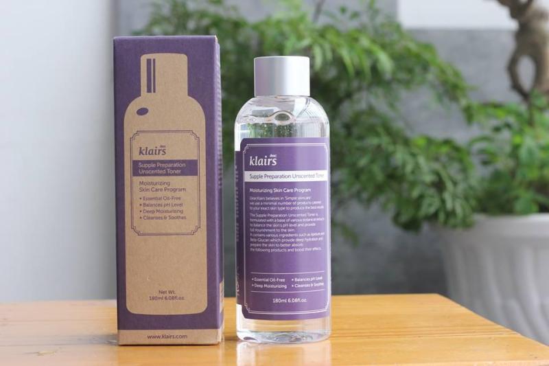 Nước hoa hồng Klairs Supple Preparation Facial Toner (có mùi) giá rẻ