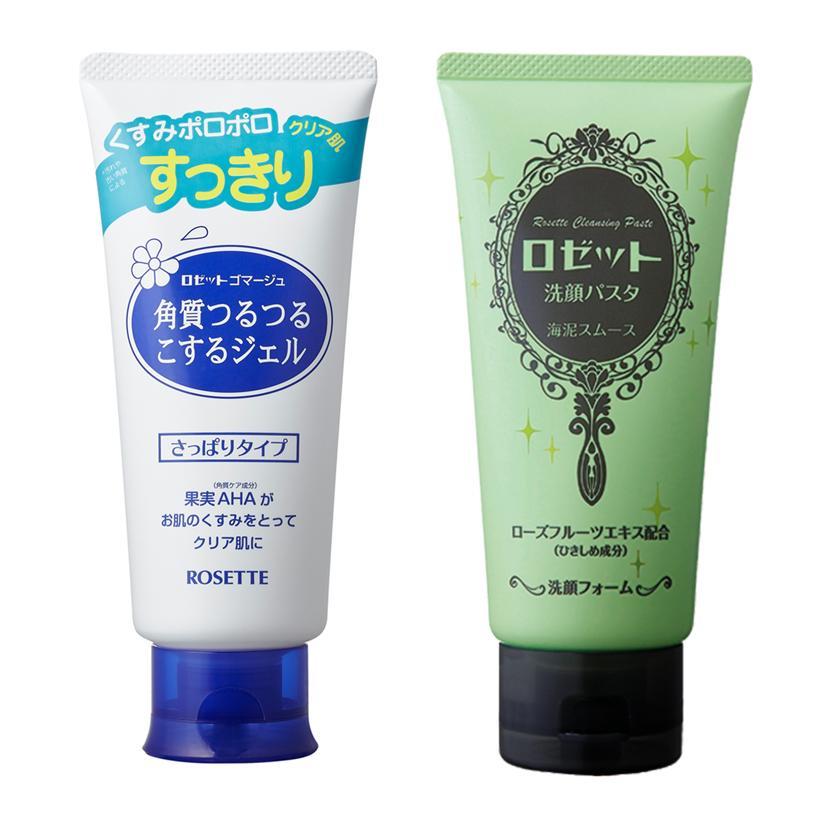 Combo thanh lọc thu nhỏ lỗ chân lông cho mọi loại da Rosette Gommage + Face Wash Pasta Sea Clay Smooth tốt nhất