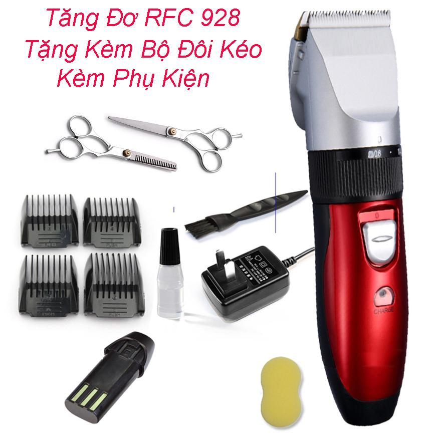 Tăng đơ cắt tóc gia đình, Tông đơ cắt tóc không dây. Tông Đơ Cắt Tóc Hàn Quốc FRC 928 TẶNG KÈM Bộ Kéo Cắt Tỉa. Nhỏ Gọn Máy Chạy Êm Cực Khỏe,Mua 1 Tặng 1Pin,Khỏi Lo Pin Hết. Bảo Hành 1 ĐỔI 1. tốt nhất