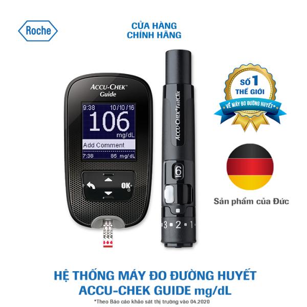 Hệ thống máy đo đường huyết Accu-Chek Guide dùng cho cá nhân mg/dL - Kèm Dụng cụ lấy máu Fastclix, trụ 6 kim bán chạy