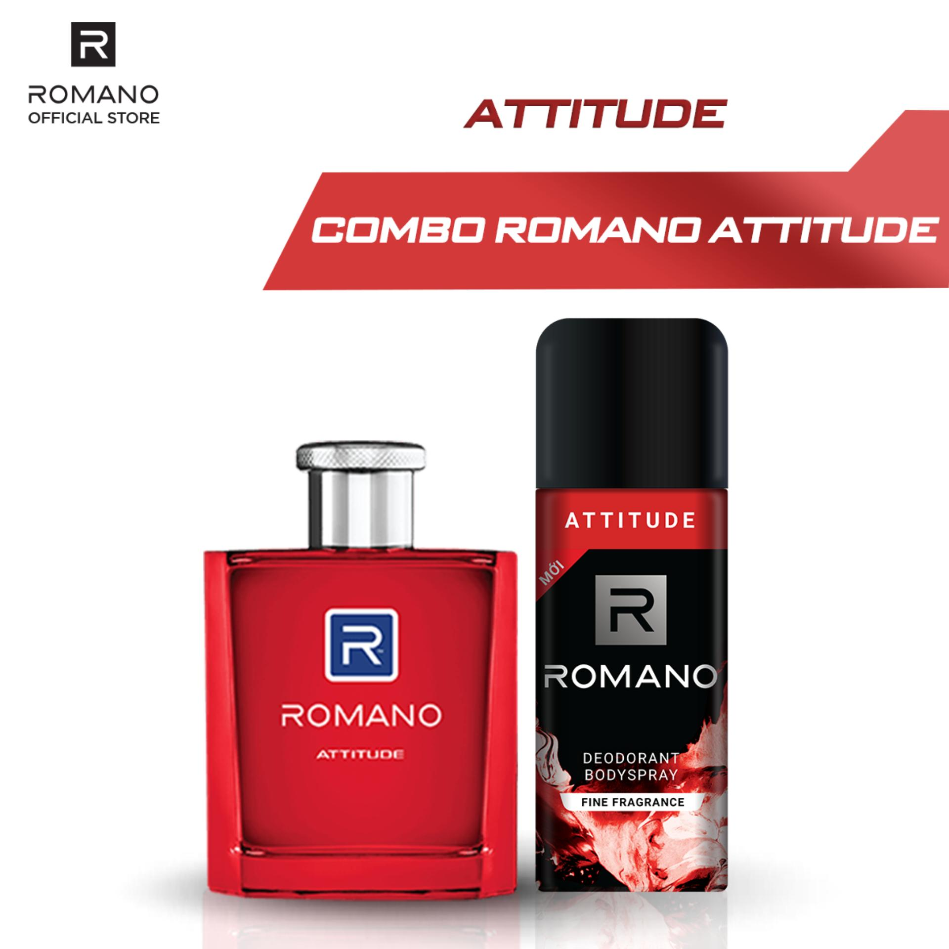 Combo Nước hoa Romano Attitude 50ml và Xịt toàn thân Attitude 150ml cao cấp