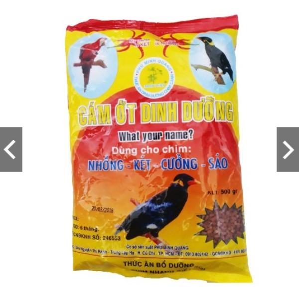 Cám Ớt Minh Tuân 500g - Thức Ăn Chim Nhồng, Két, Cưỡng, Sáo *