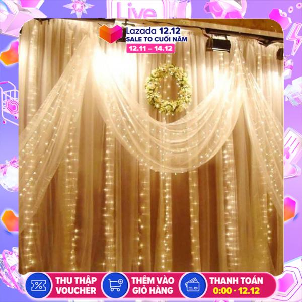 Bộ đèn nháy thả rèm trang trí rộng 3.5m dài 2m (1 bộ gồm 10 dây) - Rèm ánh sáng trang trí đám cưới, trang trí sinh nhật, đèn led trang trí sự kiện, lễ hội- đèn led