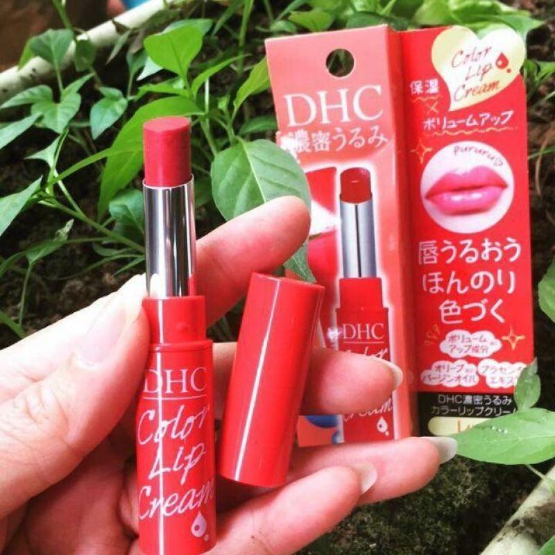 Son Dưỡng Môi Có Màu DHC Pure Color Lip Cream Stick 1.5g # Sắc Đỏ giá rẻ
