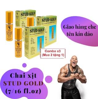 Combo x3 (Mua 2 tặng 1) Chai xịt STUD GOLD cao cấp tăng cường sinh lý nam mạnh mẽ (chai 10ml) - hàng chính hãng 100 thumbnail