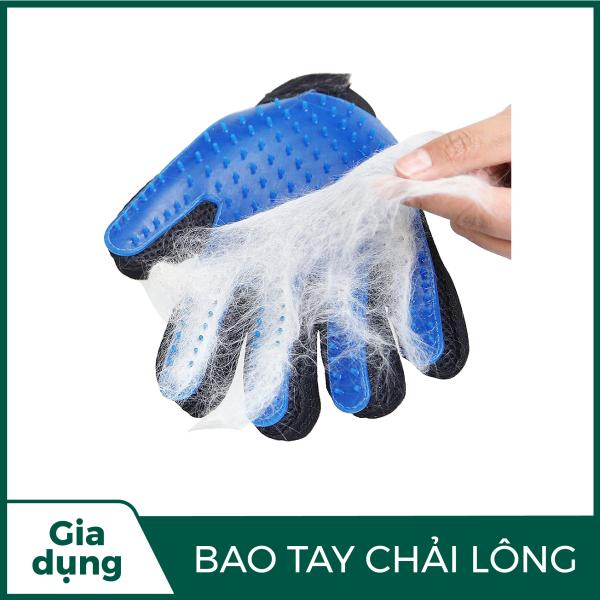 [BIG SALE]Găng tay chải lông rụng chó mèo thay thế lược chải lông siêu tiện lợi