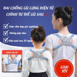 Đai chống gù lưng, chống cận thị điện tử dùng cho trẻ em - người lớn báo rung công nghệ Nhật Bản điều chỉnh lưng tôm thumbnail