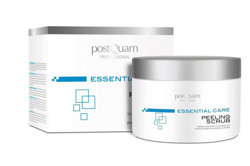 PEELING SCRUB FOR NORMAL OR SENSITIVE SKIN. ESSENTIAL CARE. POSTQUAM PROFESSIONAL ESSENTIAL CARE