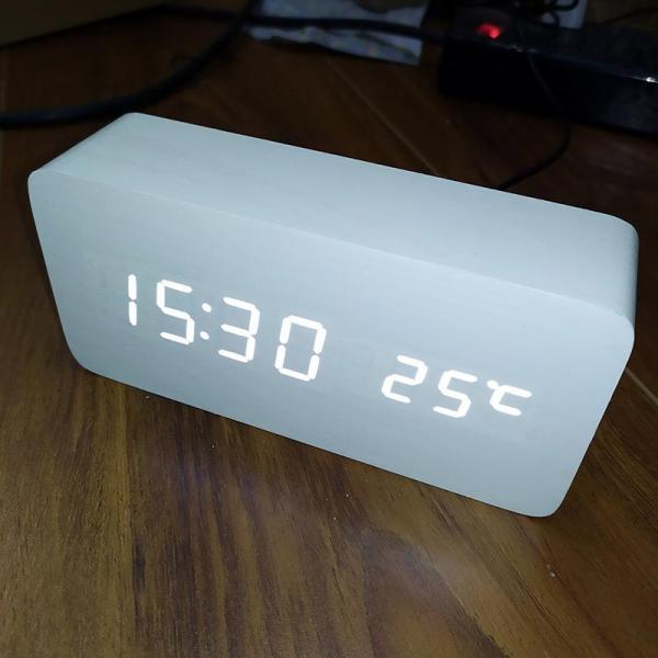 [15 MÀU] Đồng Hồ Để Bàn Trang Trí bằng gỗ - LED - 15 Mẫu - (Ảnh & Video thật) Kiêm Báo Thức & Nhiệt Kế DH003 bán chạy