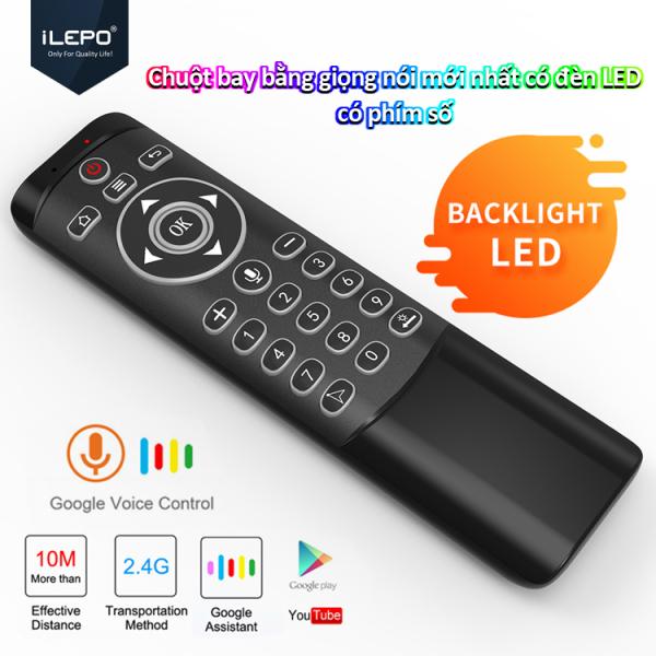 Bàn Phím Điều Khiển Remote TV Box Fly Air, Có Mic Điều Khiển Giọng Nói Và Chuột Bay Không Dây,có phím số, đèn LED, bảo hành 1 năm MT1
