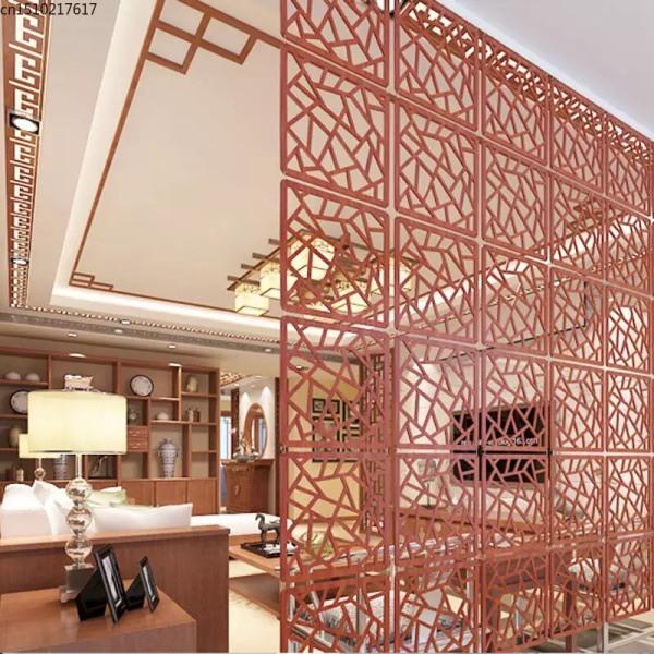 Vách hoa văn treo màu vân gỗ, ngăn chia phòng phong cách hiện đại Size: 29cm x 29cm