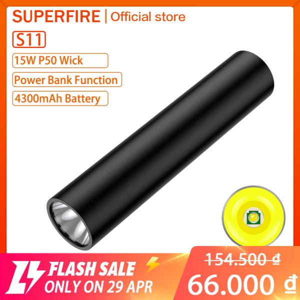 Bảng giá Đèn Pin LED Supfire S11, Đèn Pin Gia Dụng Mini Chống Nước 350LM/850LM Ngoài Trời