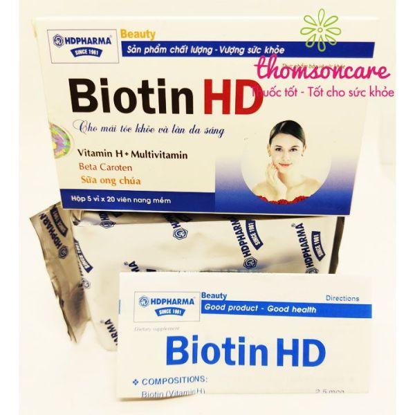 Biotin HD - Bổ sung dưỡng chất cho tóc ngăn ngừa tóc gãy rụng