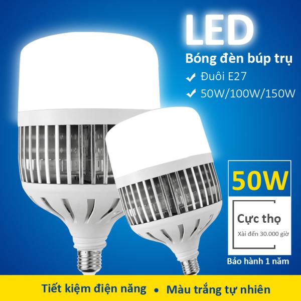 Đèn led búp trụ 50W-150W , chip nhập khẩu , có tản nhiệt , chất liệu PC , tiết kiệm điện năng , bảo hành 1 năm , E27