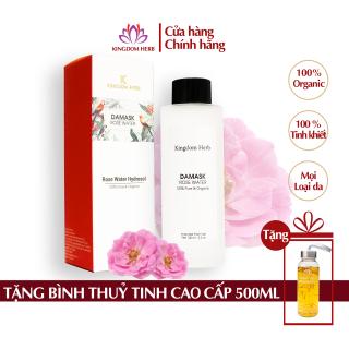 Nước hoa hồng Kingdom Herb Damask, se khít lỗ chân lông, toner không cồn, dưỡng da, chống lão hóa hộp 100ml thumbnail