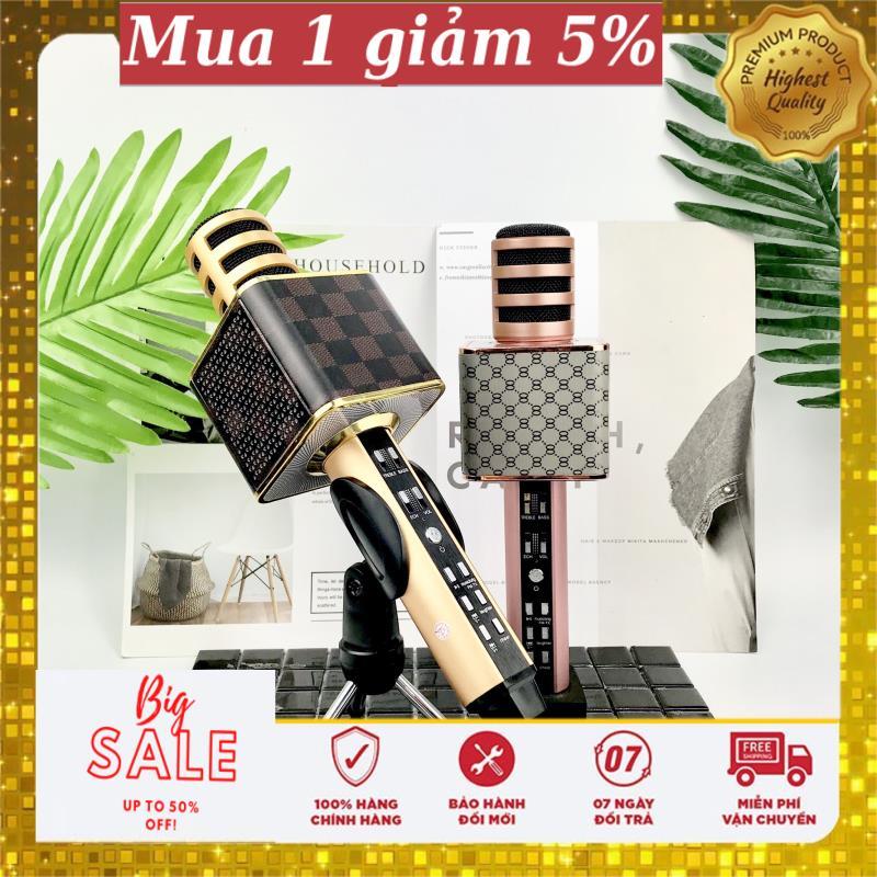 [ SALE 50% ] Mic Hát Karaoke SD18, Mic Kèm Loa, Đẳng Cấp, Mic Hát Karaoke Bluetooth SD-18 Mic Không Dây Thế Hệ Mới, MIC Karaoke Không Dây Tiện Dụng, Hát Mọi Lúc Mọi Nơi, Chất Lượng Âm Thanh Hay To Rõ Cực Đỉnh, Bảo Hành 12 Tháng, 1 đổi 1