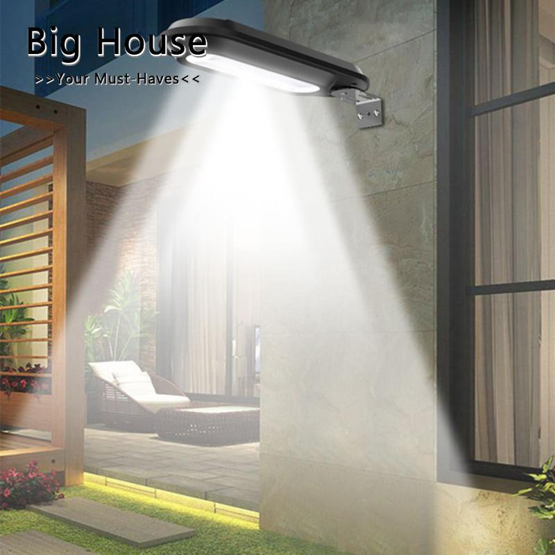 Big House 18LEDs Solar Powered Light Wall Lamp Control Street Wall Light Outdoor Lights For Garden