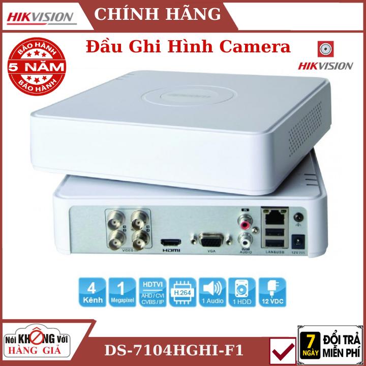 Đầu Ghi Camera Hikvision DS-7104HGHI-F1 ,, Hỗ trợ 1 ổ cứng 6 Tb, đầu camera , đâu hikvision , camera hikvision , đầu ghi hikvisin , camera an ninh , trọn bộ camera an ninh hikvision