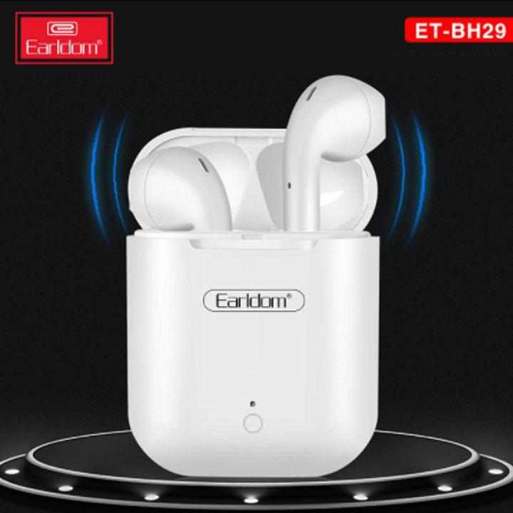 Tai Nghe không dây Bluetooth True Wireless Earldom BH29 sử dụng trong 10 giờ cao cấp lỗi 1 đổi 1 bảo hành 12 tháng