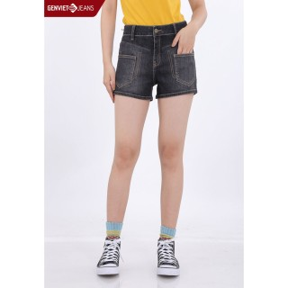 Quần Short Jeans Cách Điệu Túi Đôi TQ424J344 GENVIET thumbnail