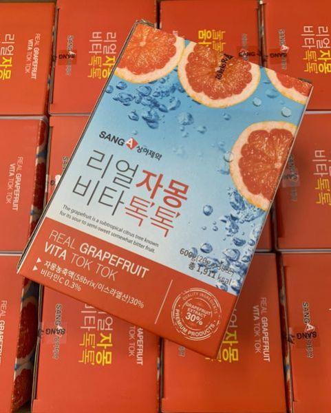 [CHíNH HÃNG] Trà Bưởi Giảm cân Bưởi Đỏ Sanga Real Grapefruit Vita Tok Tok GIẢM CÂN - ĐẸP DA - TĂNG SỨC ĐỀ KHÁNG AN TOÀN HIỆU QUẢ DÀNH CHO CÁC CHỊ EM BẬN RỘN nhập khẩu