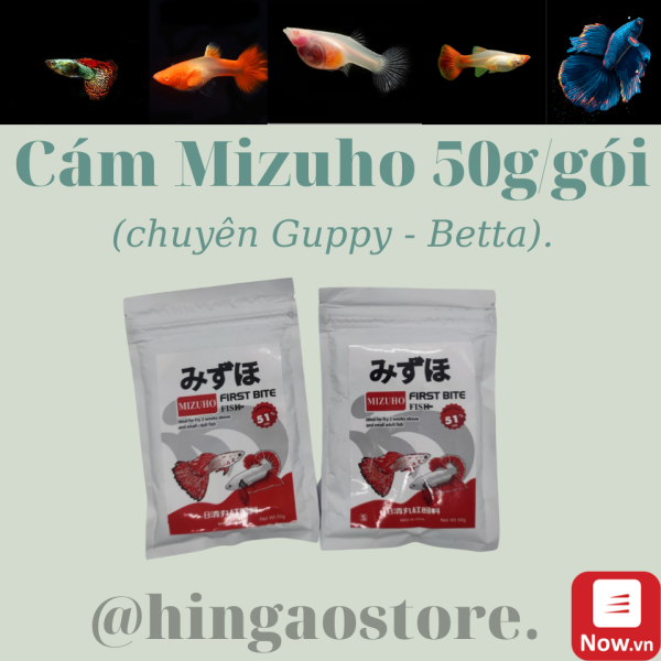 [HCM]Cám Nhật Mizuho 50G/GÓI- Thức ăn cá cảnh | Hingaostore.