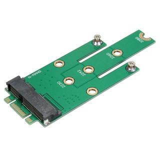 Msata Thẻ Chuyển Đổi Giao Diện Sata Mini PCI-E 3.0 Sang Ngff M.2 B Key thumbnail
