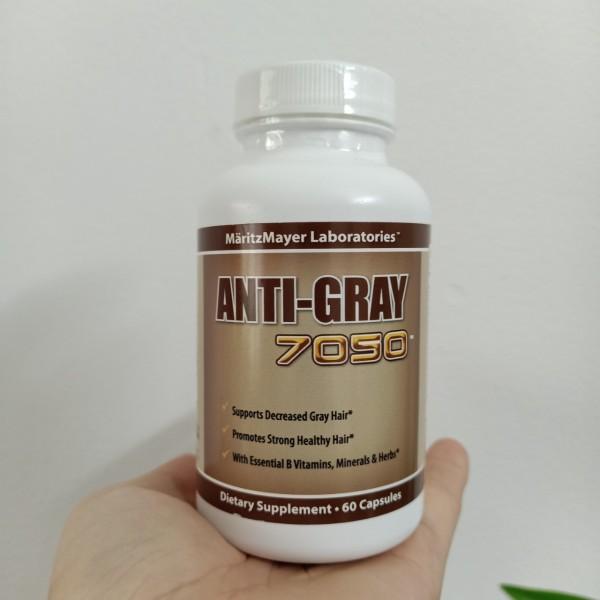 Viên uống ngăn ngừa tóc bạc sớm, ngăn ngừa rụng tóc Anti Gray 7050 - 60 viên