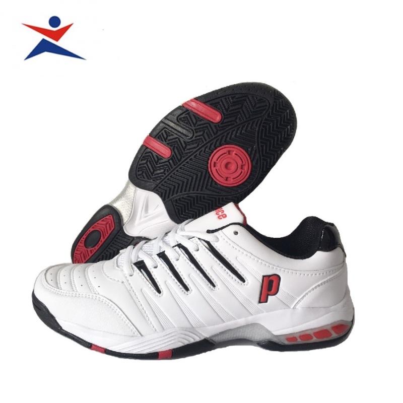 Bảng giá Giày tennis nam Prince êm ái, thoáng khí, dành cho nam, màu trắng viền đỏ, đủ size - Giầy tennis nam - Giày thể thao tennis - sportmaster