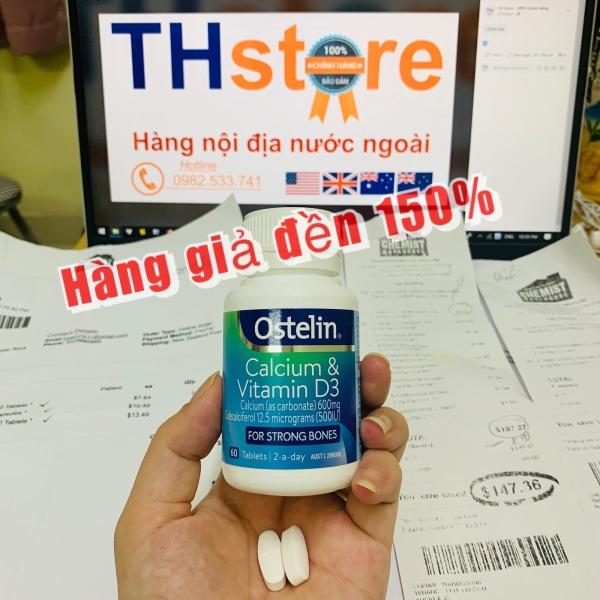 Bill, Hàng Air Viên uống bổ sung Canxi  Ostelin Calcium & Vitamin D3 (Úc)