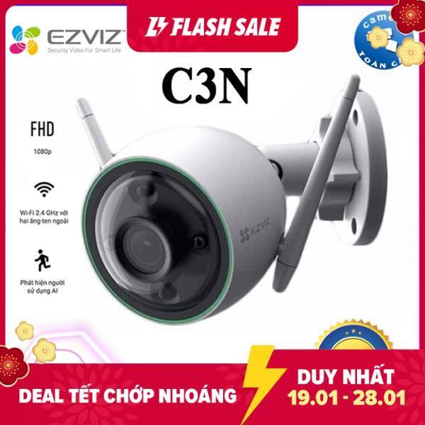 [NHÀ PHÂN PHỐI]Camera Wifi EZVIZ C3N Full HD 1080P, có màu ban đêm , không còi , có đèn báo động , báo động AI nhận dạng người và xe