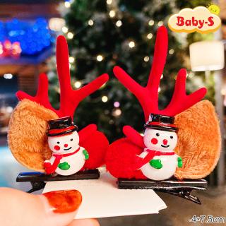 Set 2 kẹp tóc Giáng sinh hóa trang tuần lộc hottrend selfie mùa Noel phối nhiều họa tiết bắt mắt Baby-S (2pcs) SNOEL005 thumbnail