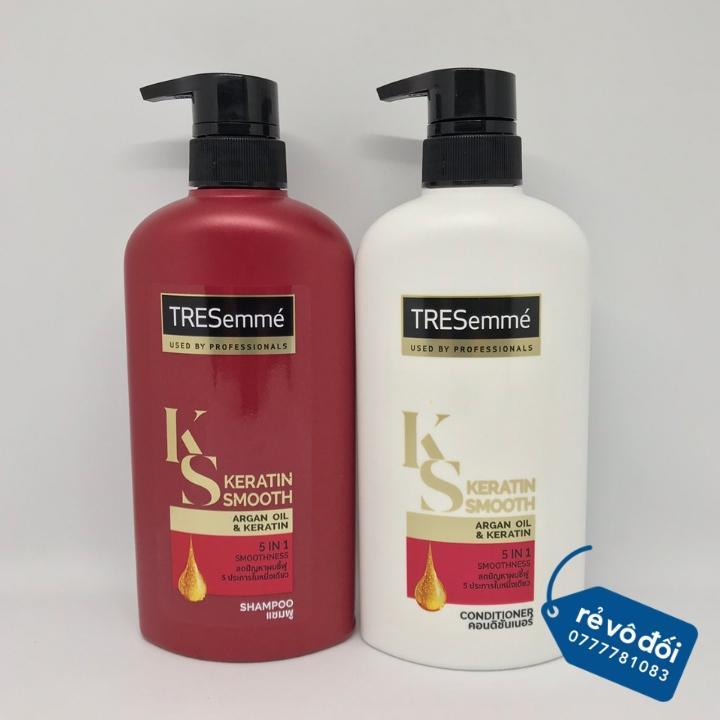 [ Mẫu mới ] Combo dầu gội và dầu xả TRESemmé Keratin Smooth 450ml - Thái Lan nhập khẩu