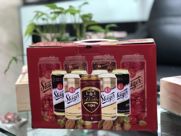 Hộp quà bia Tiệp Steiger