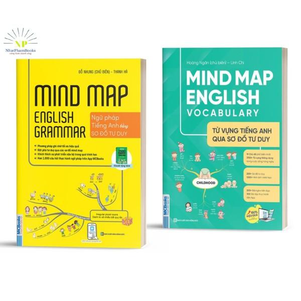 Sách - Mindmap English Grammar - Ngữ Pháp Tiếng Anh Bằng Sơ Đồ Tư Duy Cho Người Học Căn Bản - Học Kèm App Tặng Kèm Bookmath