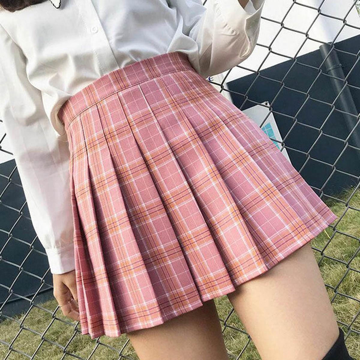 Phụ Nữ Mùa Hè Đáy Kẻ Sọc Hồng Mini Femme Cao Cấp Xếp Ly Váy Dành Cho Nữ Thể Thao Tập Váy Đồng Nhất Váy Quần Vợt Bán giỏi nhấthkjj
