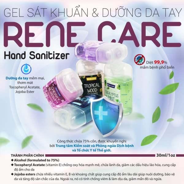 Gel rửa tay khô kháng khuẩn Rene Care USA 30ml [Diệt khuẩn; an toàn; tiện dụng; thơm lâu] cao cấp