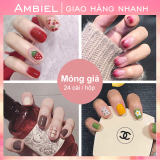 Hộp 24 Móng tay giả Chứa keo ,Năm phong cách chọn móng tay giả nail giả , móng giả A8 ( Sản phẩm đã có sẳn keo )-ANYAR thumbnail