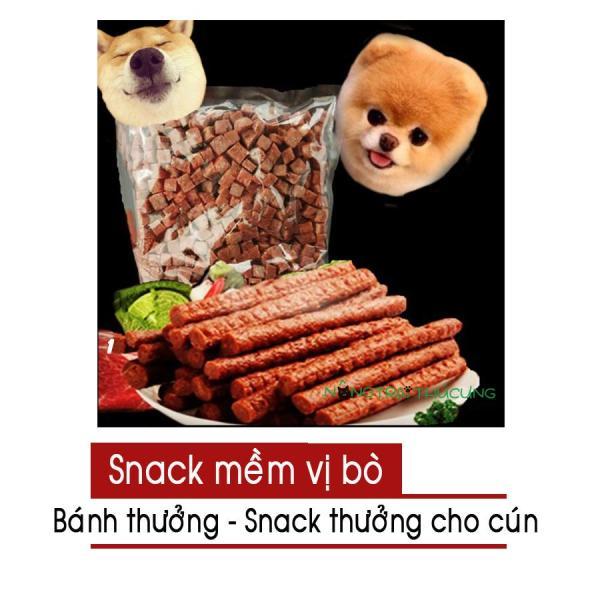 Thức ăn mềm cho chó - Snack thưởng - Bánh thưởng cho chó vị bò - [Nông Trại Thú Cưng]