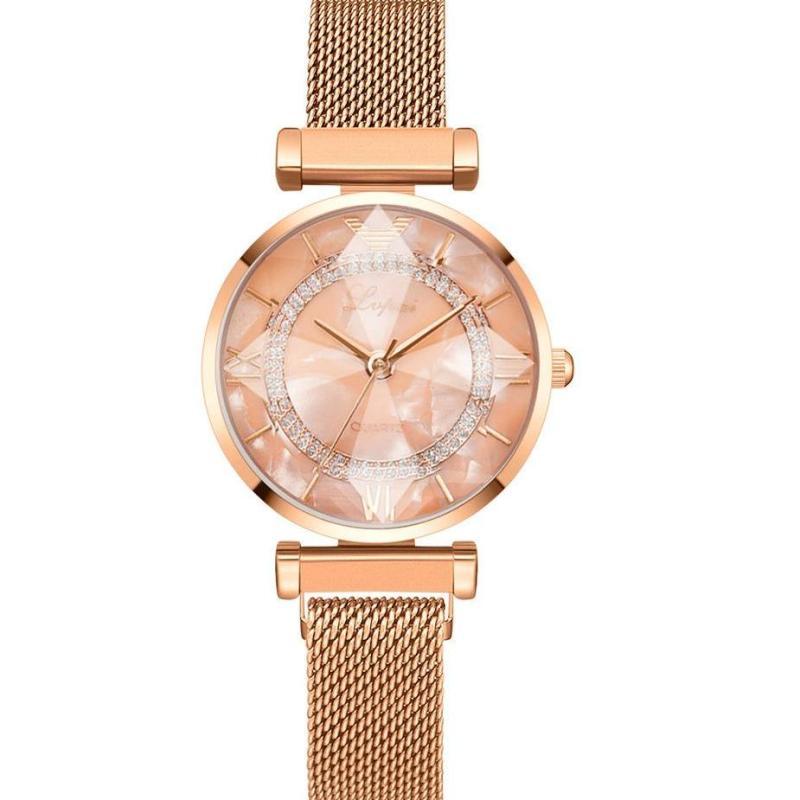 Nơi bán Đồng hồ nữ LVPAI LV99 Mặt 3D sang trọng quý phái dây thép khóa nam châm