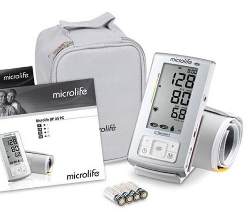 ✅ [BẢO HÀNH 24TH 1 ĐỔI 1] Máy đo huyết áp bắp tay Microlife BP A6 Basic (Trắng) - Ngừa đột quỵ