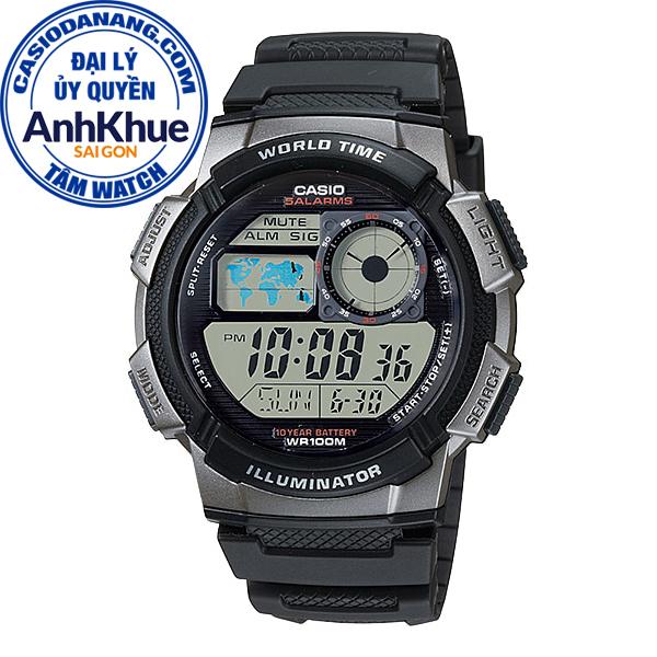 Đồng hồ nam dây nhựa Casio Standard chính hãng Anh Khuê AE-1000W-1BVDF (43mm)