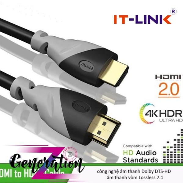 Bảng giá Cáp HDMI 2.0 lõi thuần đồng mạ vàng hai đầu it-link dài 1.5m - 10m, cam kết hàng đúng mô tả, chất lượng đảm bảo an toàn đến sức khỏe người sử dụng, đa dạng mẫu mã Phong Vũ