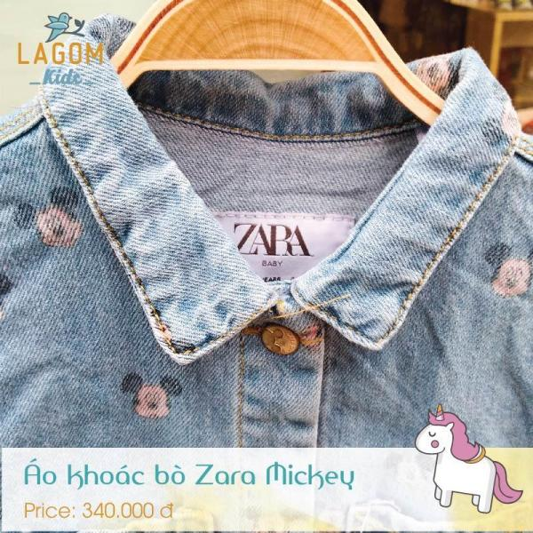 Áo khoác bò Zara Mickey
