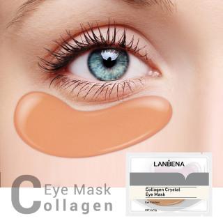 LANBENA Cặp mặt nạ mắt tinh chất collagen vàng 24K trị thâm quầng thâm mắt chống lão hoá làm săn chắc da - INTL thumbnail