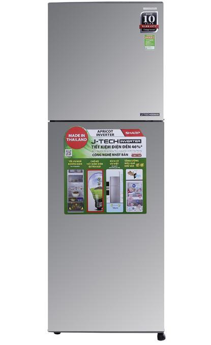 Tủ lạnh Sharp SJ-X251E-SL, 241 lít, Inverter